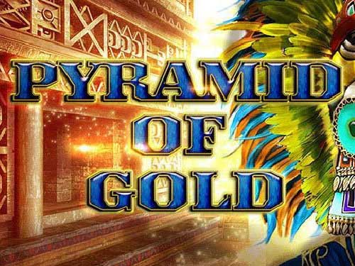 Pyramid of Gold background logo