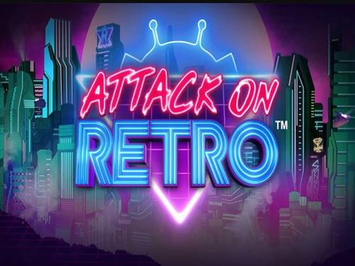 Attack On Retro background logo
