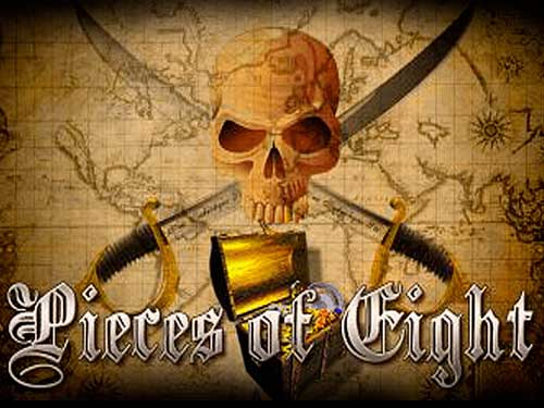 Pieces of Eight background logo