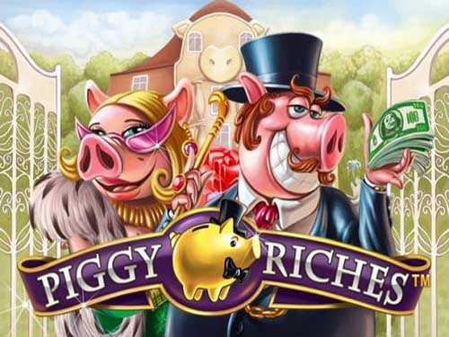 Piggy Riches background logo