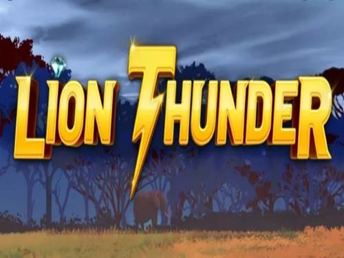 Lion Thunder background logo