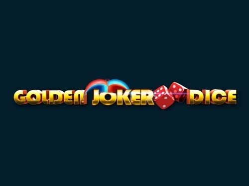 Golden Joker Dice background logo