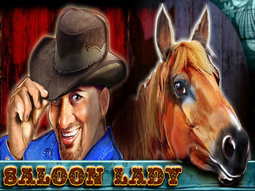 Saloon Lady background logo