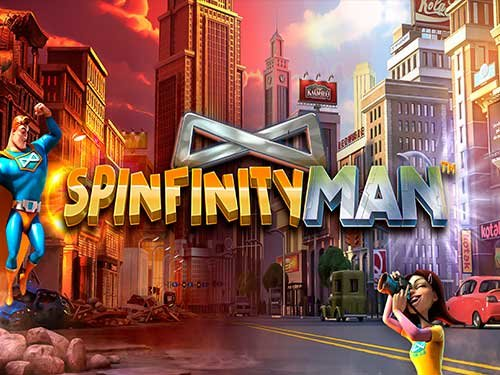 Spinfinity Man background logo